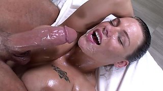 Oiled Titjob And Facial