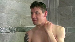 Costume cocks virgin sex in the shower