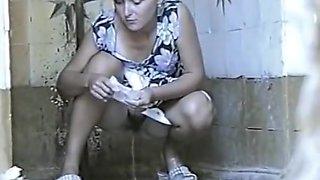 Russian Public Toilet Spy Cam - Retro Voyeur 09