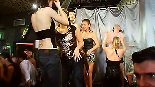 Slutty party chicks dancing and fucking