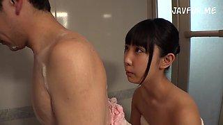 Daughter seduces daddy while washing (SDMU209 English Subtitles)