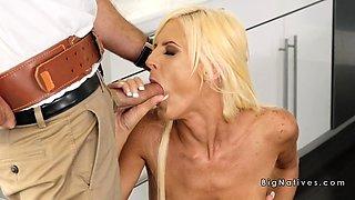 Ac repairman bangs natural huge tits blonde