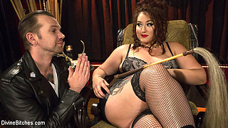 Mimosa & Will Havoc in Beautiful, Buxom Mimosa Dominates Submissive Pretty Boy - DivineBitches