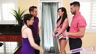Cute hottie Jenna Ross gonna lure studs to enjoy quite good swinger party
