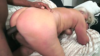 Old hoochie Judi C takes big black dick in her worn out twat