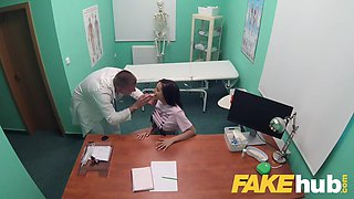 fake hospital tattooed hottie squirts and orgasms
