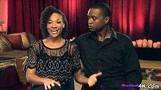 Amateur black and white couples enjoy foursome