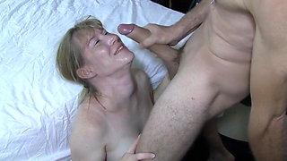 pregnant wife gets facial