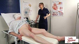 Spex nurse voyeur instructing tugging patient