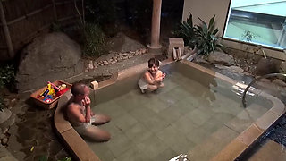 First Met Japanese Milf And A College Guy In Japanese Onsen Spa