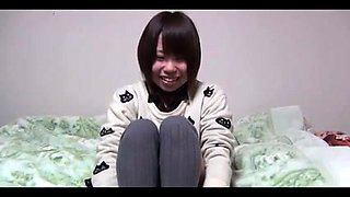 Adorable Japanese girls showing off their tight hairy cunts