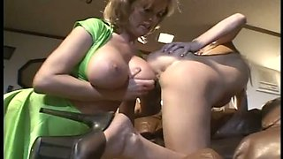 Smoking hot blonde with a bombshell body and big tits loves facesitting