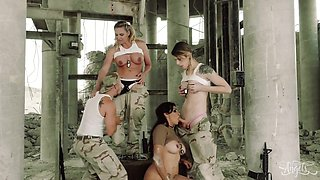 Military Porn With Strict Sergeant Jessy Dubai And Her Cadets
