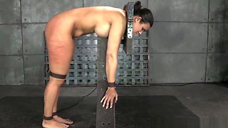 Busty Submissive Punished By Black Guy