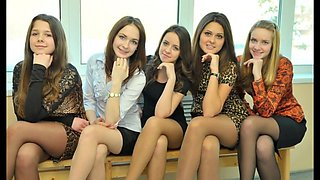 Nylon pantyhose compilation 3