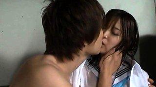 Pretty Japanese schoolgirl gets pumped full of hard cock