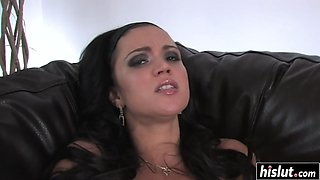 Mandy craves for a stiff toy