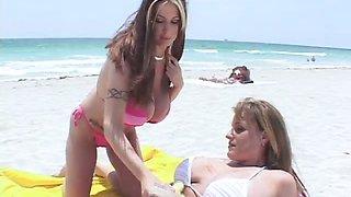 Beach Bunnies Bust Out Of Their Bikinis