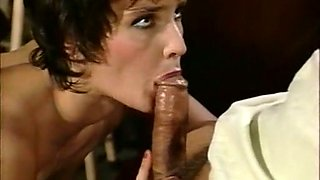 Sweet lean milf lady starting up nice FMM threesome in the gameroom