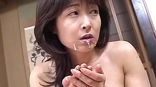 Mature housewife gets nailed hard and swallows jizz