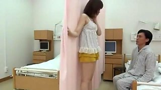 Japanese Nurse and visitors have sex in hospital