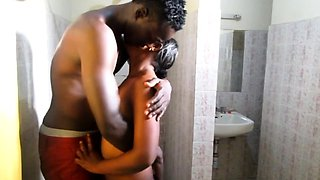 African babe babe gets banged from behind