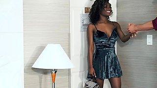 TeenyBlack - Horny Ebony Teen Gets Fucked in Doggy