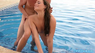 mia malkova gives a great blowjob in the pool