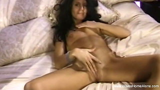 Skinny Wife Masturbating At Home and Fingering Moment