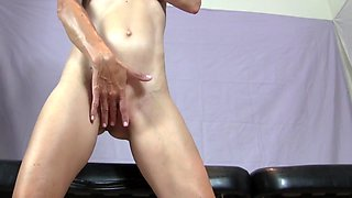 Hot blonde orgasm with vibrator and handjob 69 style