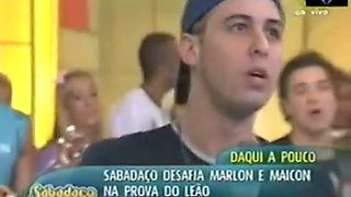 Brazilian teens showing their hot asses up skirt on tv