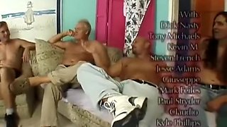 Hot Mature Lizzy Liques Gangbanged and Facialized