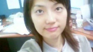Pretty and horny Korean chick needs a hot sex after a long day at work