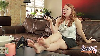 the working girls achy nylon covered feet