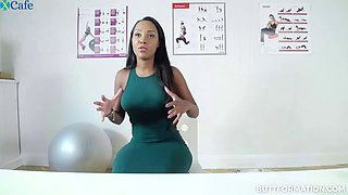 noemilk is a well shaped chocolate secretary flashing her sexy curves