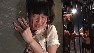 Sex in the dungeon with a cute and slutty Asian girl