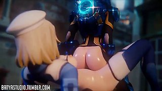 3d big ass animated overwatch hardcore sex