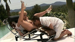 Hardcore Anal Acion Poolside For Blonde Natalli Di Angelo