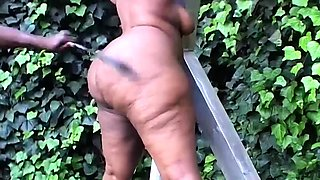 extreme african fetish bbw gets creamed