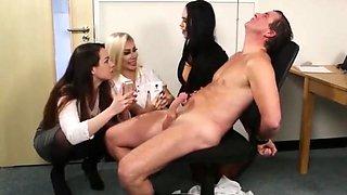 Amazing amateur Brunette, CFNM porn clip