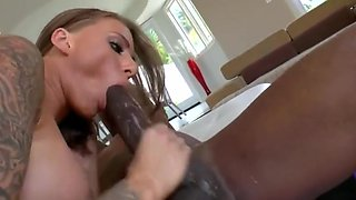 Black monster cock anal with cum in mouth