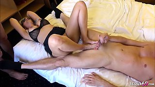 Two German Prostitute called by Guys and Fucked NO CONDOM