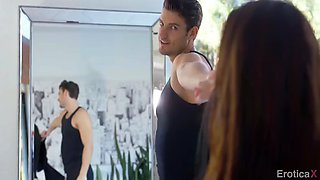 dancer babe cassidy klein makes love with partner at the studio