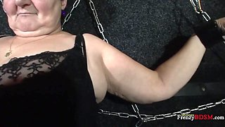 Submissive chubby mature whore Hana has to give a handjob