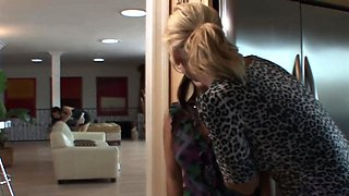 Cougar stepmom seduces teens into taboo trio