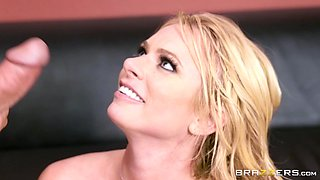 Briana Banks is a busty co-worker who can swallow every dick