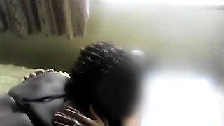Big black booty lesbian eats a horny amateur African pussy.