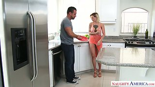 Delicious housewife Harlow Harrison enjoys having sex with her man