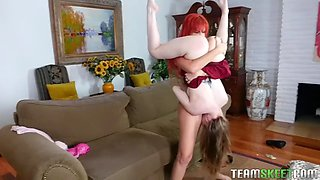 stepmom savana styles makes out with stepdaughter gracie may green