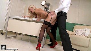 Incredible pornstar Blonde Nurse in Exotic Babes, Blowjob sex scene
